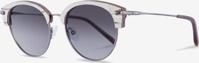 Kerbholz Sonnenbrille 'Carl' in beige / hellgrau: Frontalansicht