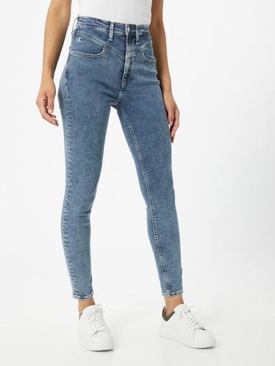 Calvin Klein Jeans Jean en bleu denim: Vue de face
