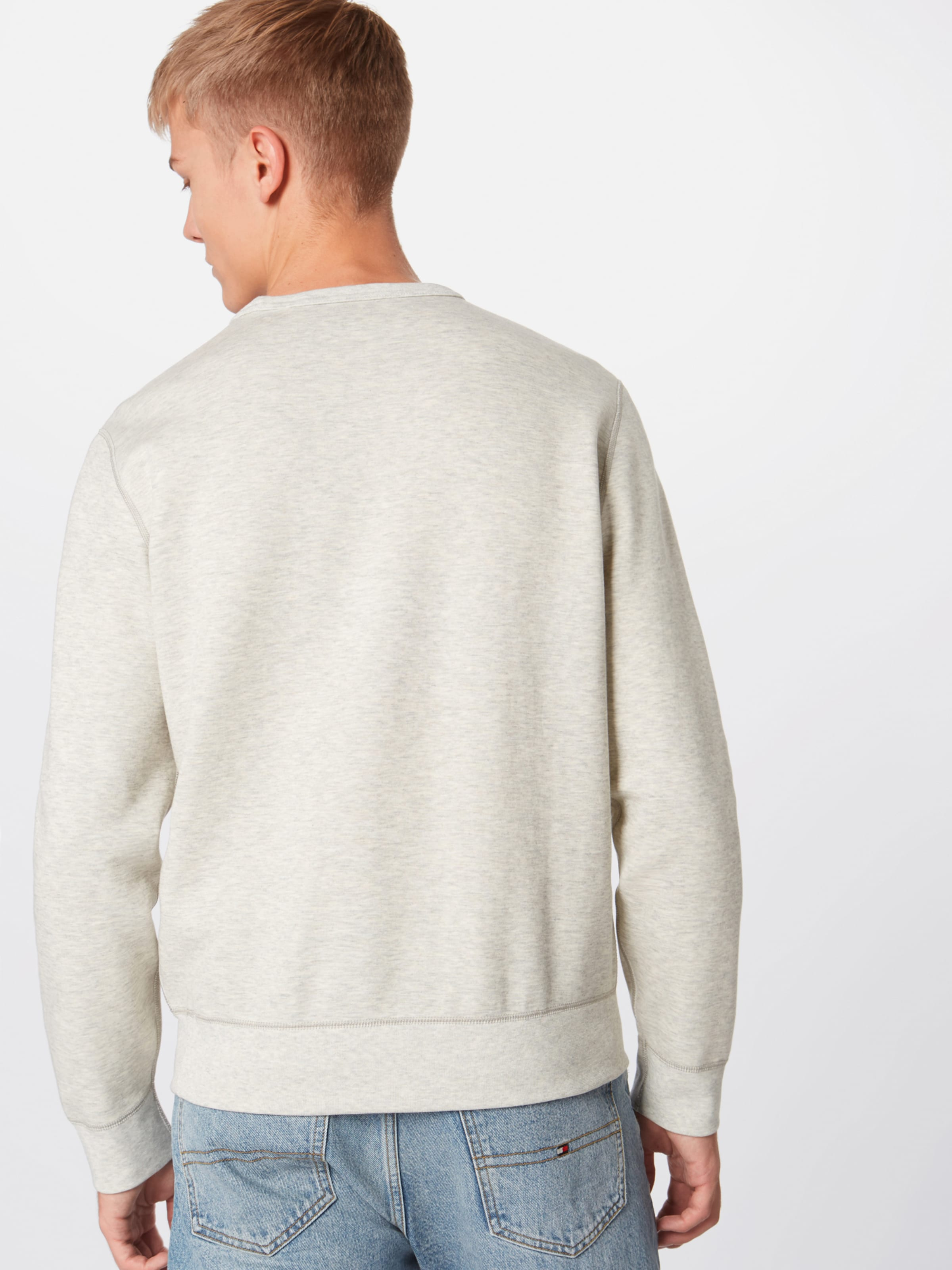 Sleeve 'lscnm6 long Grau Polo Sweatshirt In Lauren Ralph knit' xQCBerdoW