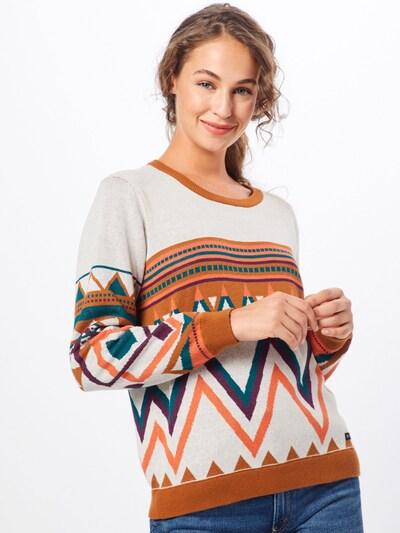 Iriedaily Pullover 'Hopi Knit' in ecru / orangerot, Modelansicht