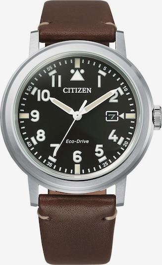 CITIZEN Uhr in braun / schwarz / silber, Produktansicht