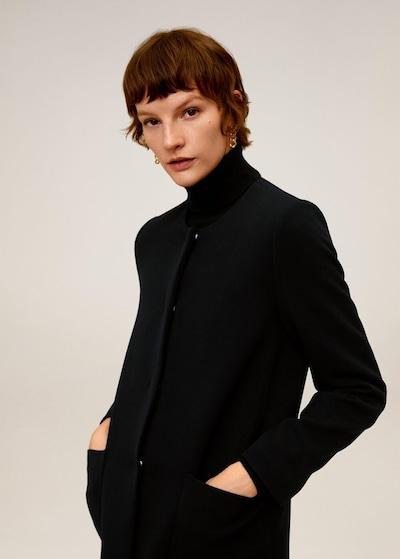 MANGO Mantel 'Bombin' in schwarz, Modelansicht