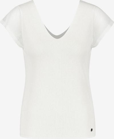 TAIFUN Pullover 3/4 Arm Polokragen Leichter Kurzarm-Pullover in weiß, Produktansicht