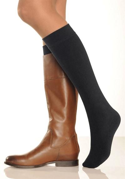 LAVANA Skarpety do kolan w kolorze czarnym, Podgląd produktu