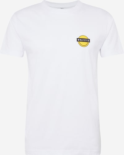 Mister Tee T-Shirt 'SMEVER TEE' in gelb / weiß: Frontalansicht