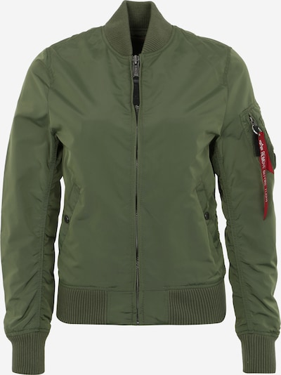 ALPHA INDUSTRIES Bomberjacke in oliv / orange / weiß, Produktansicht