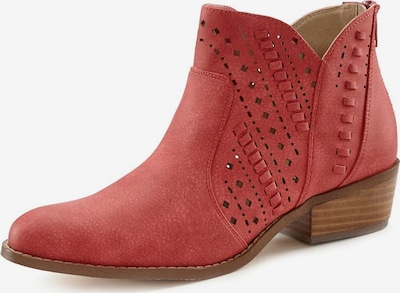 LASCANA Ankle Boots in rostrot, Produktansicht