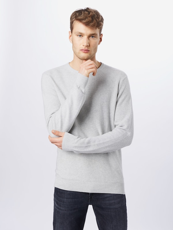 Denim Project Pullover 'Kabir Knit' in grau: Frontalansicht