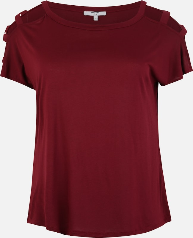 ABOUT YOU Curvy Shirt 'Loryn' in bordeaux, Produktansicht