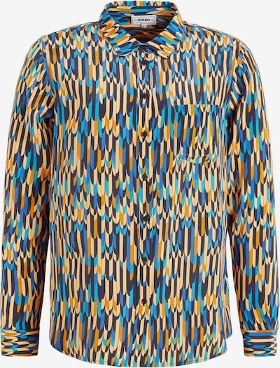 khujo Bluse ' COLLINS ' in blau / mischfarben / orange, Produktansicht