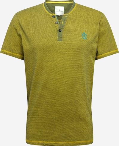 TOM TAILOR T-Shirt in gelb / schwarzmeliert, Produktansicht