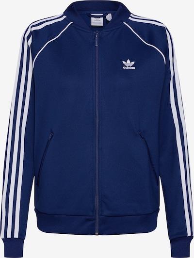 ADIDAS ORIGINALS Sweatjacke in blau / weiß, Produktansicht