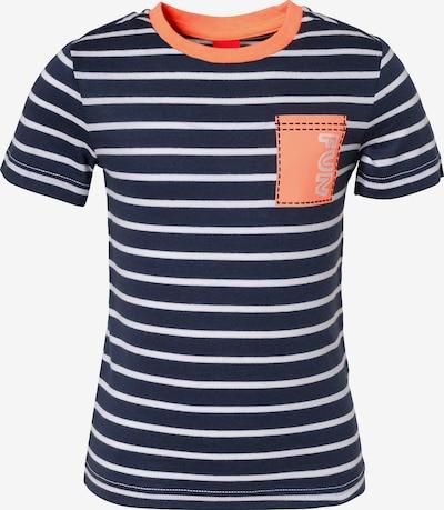s.Oliver Junior T-Shirt in ultramarinblau / orange / weiß, Produktansicht