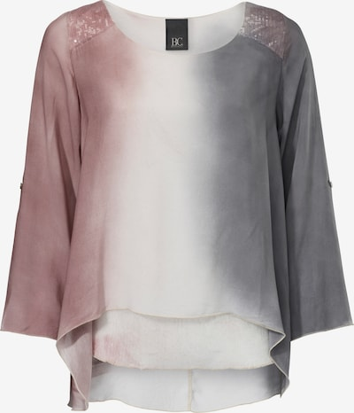 heine Batikbluse mit Pailletten in grau / rosa, Produktansicht