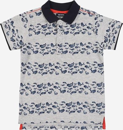 BLUE SEVEN Poloshirt in blau / grau, Produktansicht