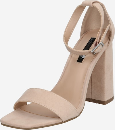 Miss Selfridge Sandale 'STEFFI 2 PART BLOCK HEEL' in nude: Frontalansicht