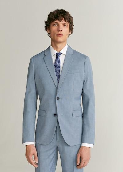 MANGO MAN Sakko 'Paulo' in pastellblau: Frontalansicht