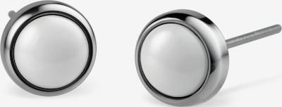 BERING Ohrstecker in silber / weiß, Produktansicht