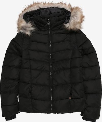 Petrol Industries Winterjas 'Girls Jacket Puff' in de kleur Zwart, Productweergave