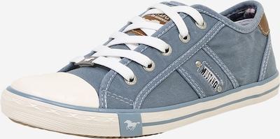 MUSTANG Sneaker im Canvas-Style in hellblau / weiß, Produktansicht