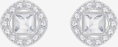 Swarovski Ohrstecker in silber / weiß, Produktansicht