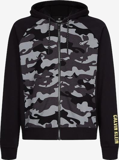 Calvin Klein Performance Sweatjacke in grau / basaltgrau / schwarz, Produktansicht