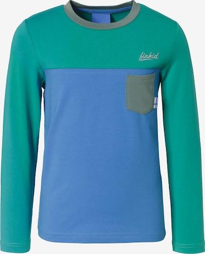 FINKID Langarmshirts PUOMI mit UV-Schutz , Organic Cotton in blau / grün, Produktansicht