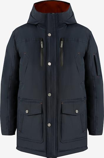 Finn Flare Daunenjacke mit komfortablem Schnitt und modischem Design in nachtblau, Produktansicht