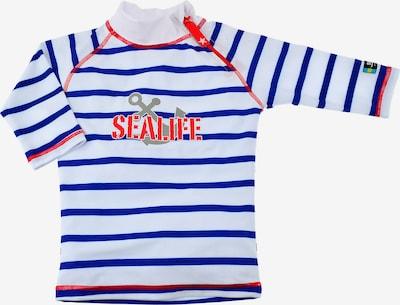 SWIMPY Schwimmshirt in blau / rot / weiß, Produktansicht