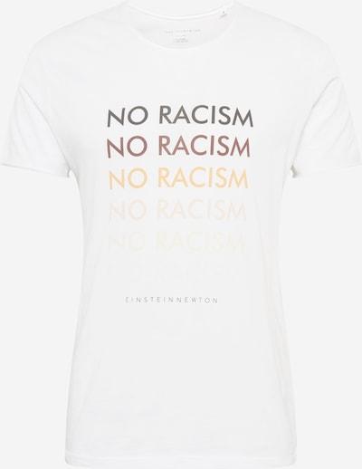 Tricou 'No Racism' EINSTEIN & NEWTON pe culori mixte / alb, Vizualizare produs