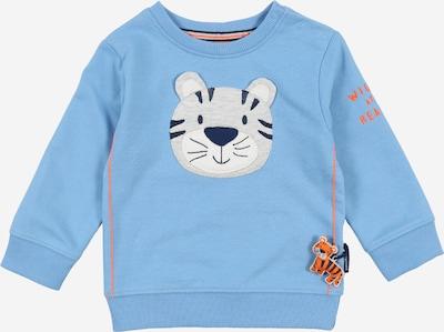 STACCATO Sweatshirt in de kleur Lichtblauw / Sinaasappel / Wit, Productweergave