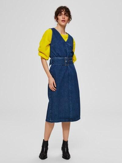 SELECTED FEMME Taillengürtel Jeanskleid in blau, Modelansicht