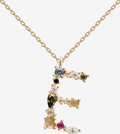 P D PAOLA Kette in opal / gold / smaragd / pink, Produktansicht