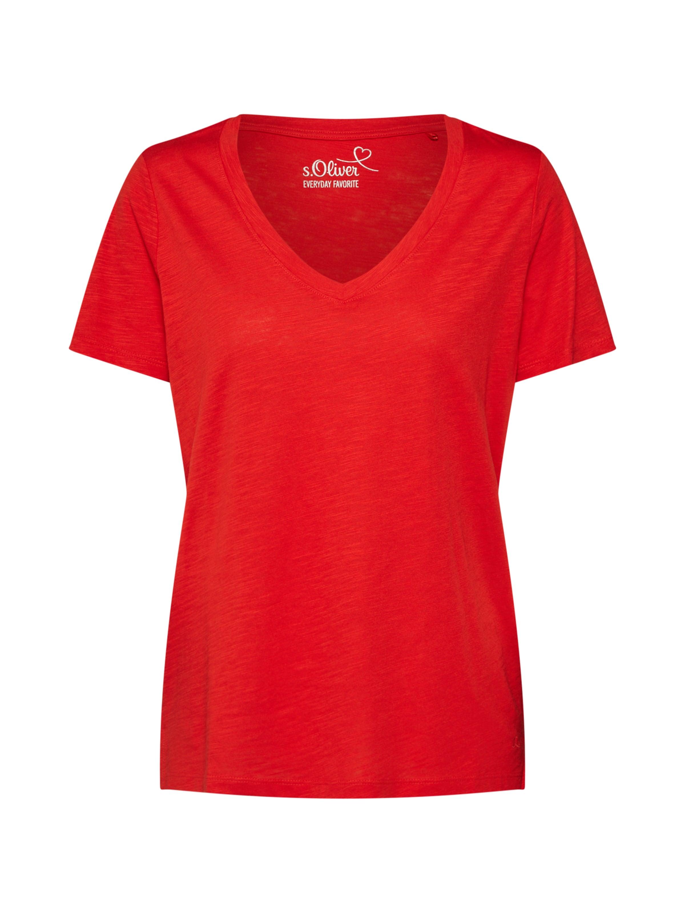 Red T En Rouge S oliver Label shirt ARqScL534j