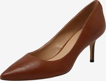 brūns Lauren Ralph Lauren Augstpapēžu kurpes 'LANETTE'