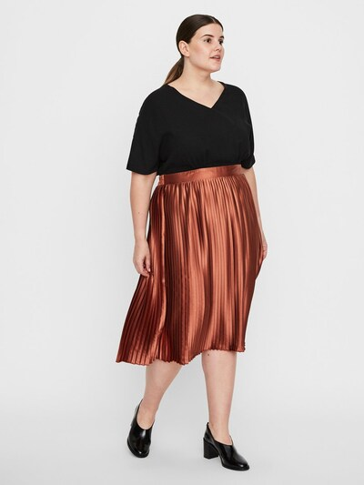 Junarose Kleid in bronze / schwarz, Modelansicht