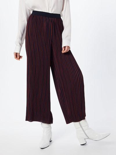 ONLY Hose 'onlPETUNIA CROPPED PLISSE PANT WVN' in nachtblau / rot: Frontalansicht