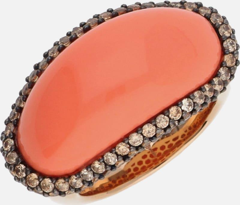 JOOP! Damen Fingerring 925 Silber Rosegold Coral JPRG90706C