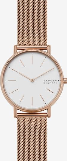 SKAGEN Uhr 'Signatur' in bronze / weiß, Produktansicht