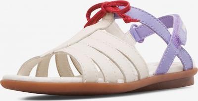 CAMPER Sandale 'Right' in creme / helllila / rot, Produktansicht