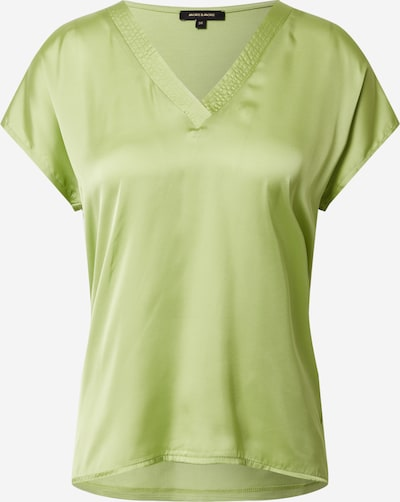 MORE & MORE Shirt 'Shirt with Satinfront and V-Neck' in de kleur Lichtgroen, Productweergave