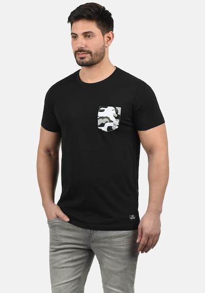 !Solid Rundhalsshirt 'Calvin' in schwarz: Frontalansicht