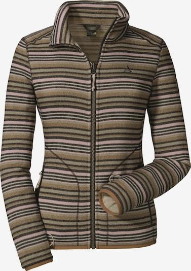 Schöffel Shirt 'Zipin Brügge' in brokat / dunkelbraun / rosa, Produktansicht