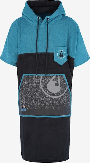 Wave Hawaii Badeponcho ' Uno ' in türkis / dunkelblau / grau, Produktansicht