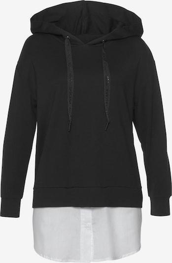 LASCANA Sweatshirt in schwarz / weiß, Produktansicht