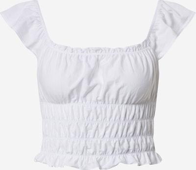 Top 'SHIRRED PINNY TOP' Miss Selfridge pe alb: Privire frontală
