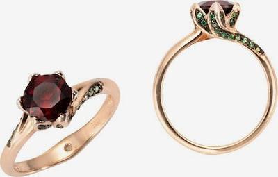 FIRETTI Ring in rosegold / smaragd / rubinrot, Produktansicht