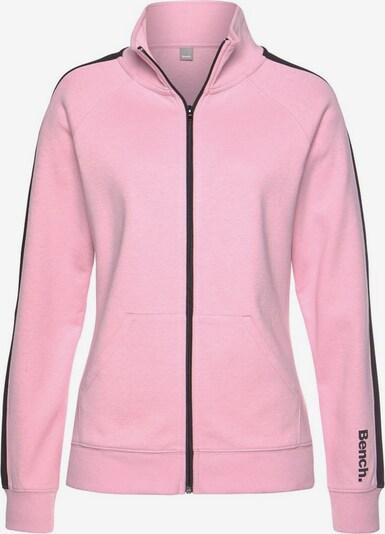 BENCH Sweatjacke in rosa / schwarz, Produktansicht