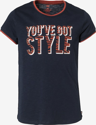 WE Fashion T-Shirt in dunkelblau / orange, Produktansicht