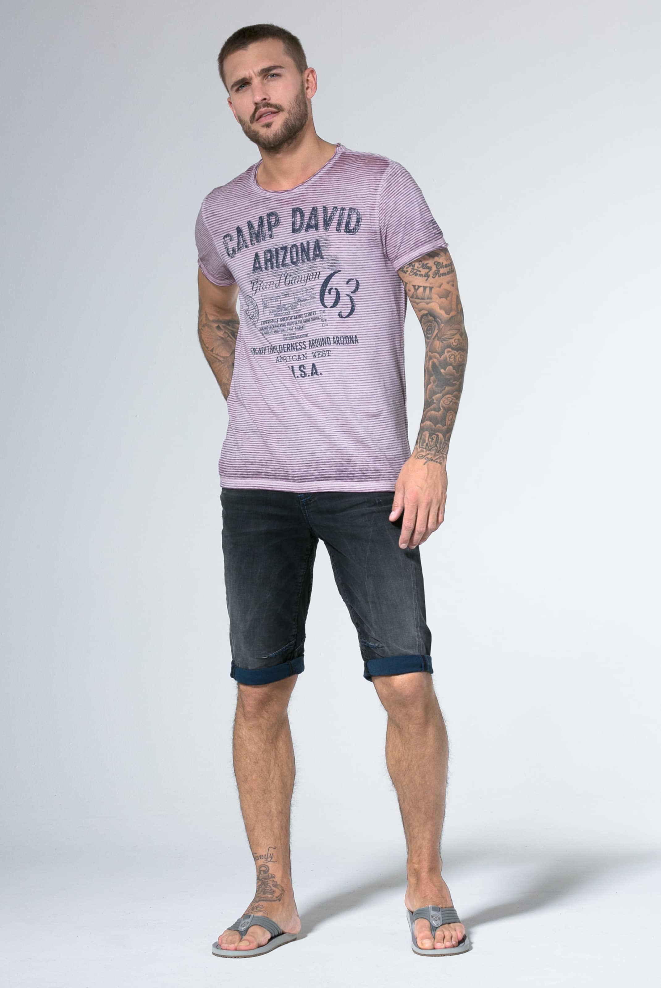 T David MarineHellpink In Camp shirt 08wPNOkXn
